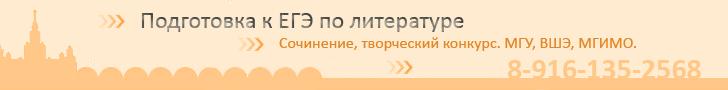 Лучший репетитор Москвы по литературе
